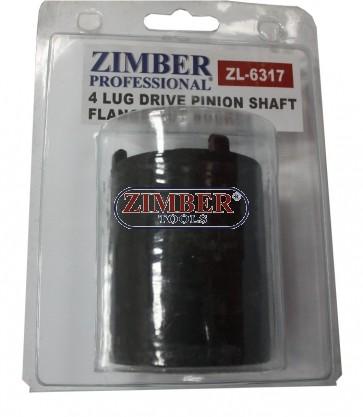 4 LUG DRIVE PINION SHAFT FLANGE NUT SOCKET MERCEDES BENZ W107, W114, W115, W116, W123, W126. ZL-6317 - ZIMBER-TOOLS.