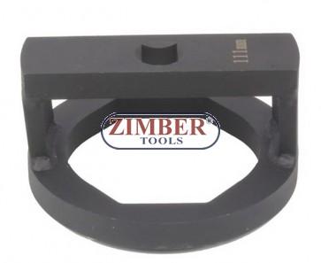 "Cheie pentru nuca axului BPW, cu profil special drept sau 3/4"", 110-mm, ZR-36ANSWC110 - ZIMBER TOOLS"