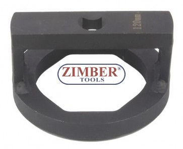 "Cheie pentru nuca axului BPW  ECO-Axle, cu profil special drept sau 3/4"", 120-mm, ZR-36ANSWC120 - ZIMBER TOOLS."
