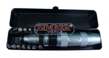 "Surubelnita de impact 1/2"" -13 piese (ZR-14ID121301) - ZIMBER-TOOLS."