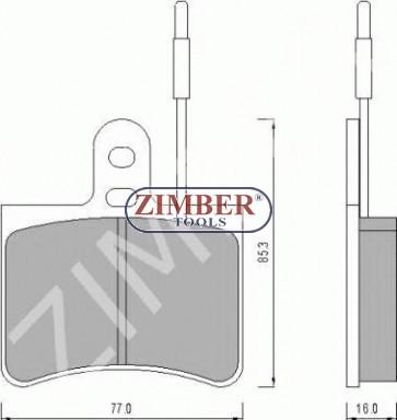 Накладки предни/задни к-т - CITROEN C35, FIAT 242
