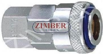 "Cuplaj rapid cu filet interior 1/2"" ZDC-2 din otel - ZIMBER"