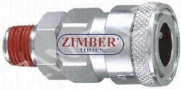 "Cuplaj rapid cu filet exterior 1/4"" ZDC-2 - ZIMBER"