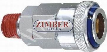 "Cuplaj rapid cu filet exterior 1/4"" ZDC-2  din otel - ZIMBER"