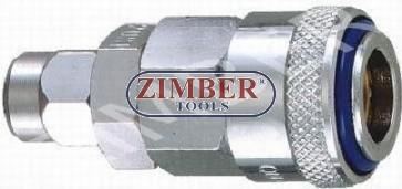 Cuplaj rapid pentru furtun 6.5X10mm din otel - ZIMBER