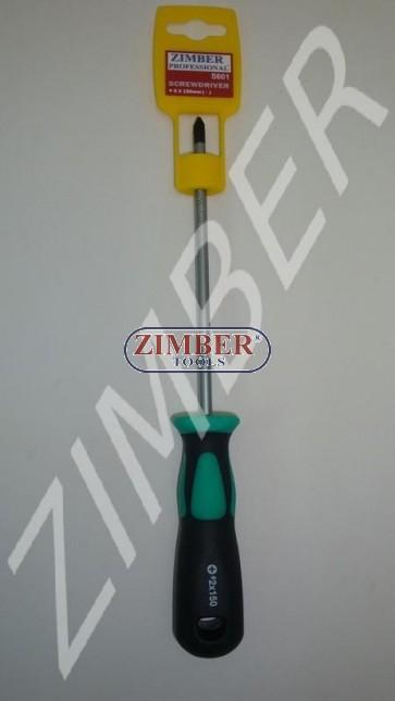 Şurubelniţă cu cap cruce  6 Х 150 (+) - ZIMBER