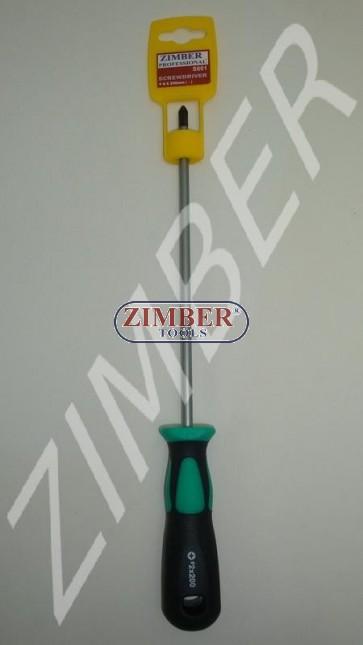 Şurubelniţă cu cap cruce  6 Х 200 (+) - ZIMBER