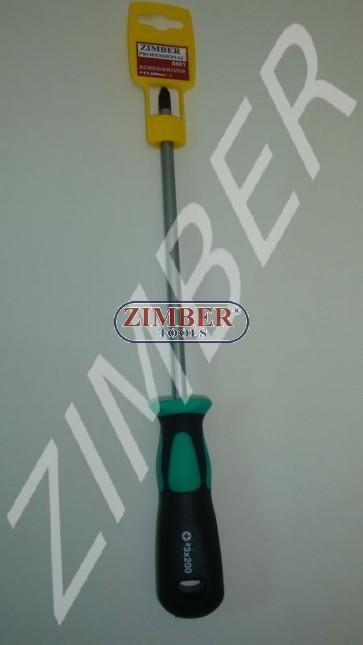 Şurubelniţă cu cap cruce  8 Х 200 (+) - ZIMBER