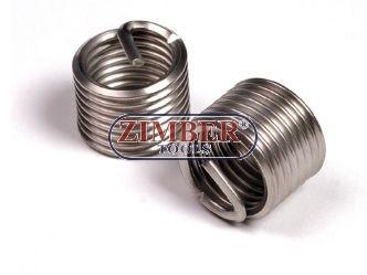 INSERTIE SPIRALATA REPARAT FILETE -  M8 x 1,25 x 10,8mm (ZR-36TIM8125) - ZIMBER-TOOLS
