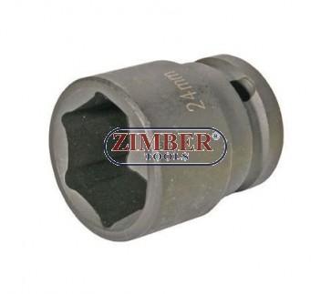 "Tubulara 24 - mm. IMPACT 1/2"" cu 6.Pereti  - BGS"