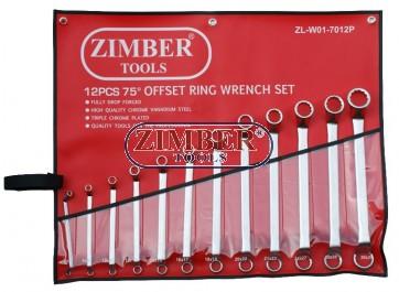 Set chei inelare cu cot 12 buc.75° (6-32mm) -  ZIMBER