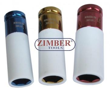 TRUSA TUBULARE PLASTIFICATE DE IMPACT  Set de 3 chei - ZIMBER