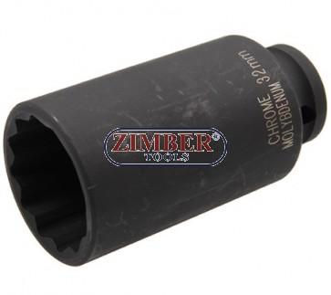 """Tubulara 32.mm IMPACT 1/2"""" L85.mm cu 12.Pereti BGS"""