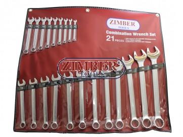 Set chei combinate, dimensiuni de la 6-mm la 32-mm, 21 bucati - ZIMBER
