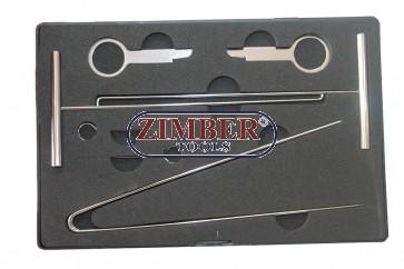 Trusa de scule pentru demontat aparate radio - Merced,BMW, ZR-36ILS - ZIMBER-TOOLS