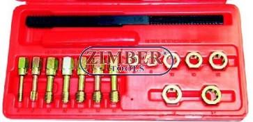 Trusa cu tarozi si filiere pentru refacut filete, ZR-36UURS - ZIMBER TOOLS