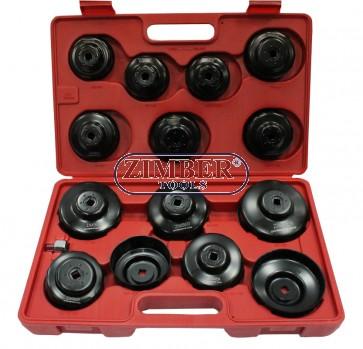 Trusa de chei pentru filtre de ulei 15-buc, ZR-36OFWS15  - ZIMBER TOOLS