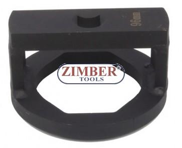 """Cheie pentru nuca axului BPW, cu profil special drept sau oval 95 -mm, 3/4"""", ZR-36ANSWC95 - ZIMBER TOOLS."""