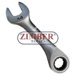 Cheie combinata cu clichet , scurte 11mm - ZIMBER