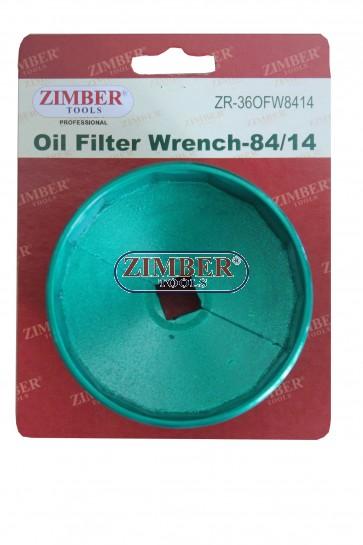 Cheie pentru filtru de ulei Mercedes-Benz - 84mm x 14 Flute - ZR-36OFW8414 - ZIMBER TOOLS.