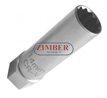 """Cheie Bujie Tubulara BMW 14-mm 3/8"""", ZR-04SPSTM3814 - ZIMBER-TOOLS"""