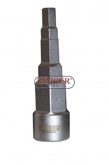 Patrat petru Radiator 3/8 - 7/16 - 1/2 - 5/8 -16.mm - 21.mm, ZR-17RSW01 - ZIMBER TOOLS.