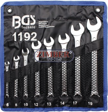 Set chei combinate,8 piese, 6-19 mm.1192- BGS technic.