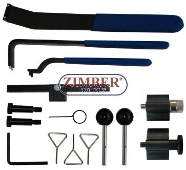 Set fixare distributie VW, AUDI - TDI- OEM - 3387, T10020, T10098A, T10050 / 310085, T10010, 3359 / T20102, T10060/A, T10115, T40011, ZR-36ETTS164 - ZIMBER-TOOLS.