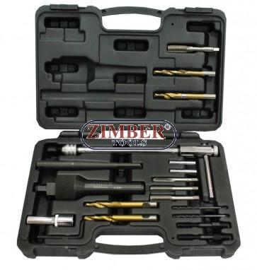 Exractor pentru bujii incandescente rupte M8 x 1.0 mm, M10 x 1.0 mm si 12 x 1.25, ZR-36GPRS12 - ZIMBER-TOOLS.