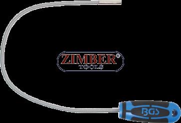 Recuperator magnetic extra slim, flexibil, cap cu diametru 6mm, forta de prindere 500gr, lungime 500mm - 3089- BGS- technic.