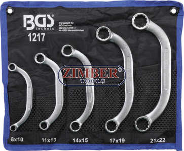 Set chei inelare forma C| 8x10 - 21x22 mm | 5 piese.- 1217 - BGS technic.