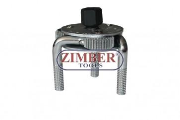 Cheie pentru filtre de ulei 65 la 120 mm, ZR-36OFW03A - ZIMBER TOOLS