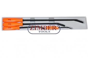 Set Leviere din OTEL CALIT 200-300-455-610.mm 4.buc ZR-36PBS04 - ZIMBER TOOLS
