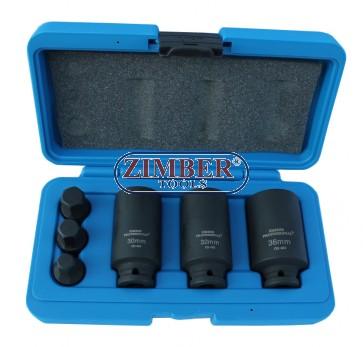 Set cheie tubulara pentru piulita butuc 1/2 - 6buc - AUDI, VW, BMW - ZIMBER TOOLS.