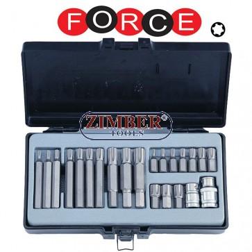 Trusa TORX - Spline - T-Special - Hexagon  22 buc.4225 - FORCE