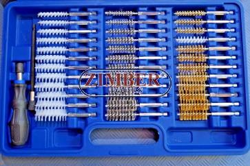 Set perii de sarma /plastic cu antrenare pentru autofiletanta,38 piese - ZT-HGA32 - SMANN TOOLS.