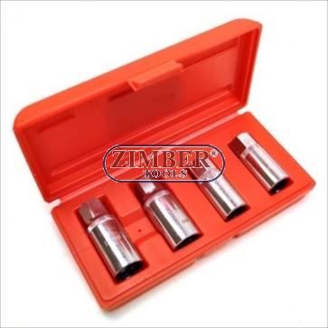 Trusă extragere şurub rupt 4 Buc. 6, 8, 10, 12mm - FORCE-5042.