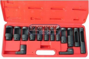 Trusa de tubulare pentru injectoare si Sonda Landa 14-Buc.  ZR-36OSWS14 - ZIMBER-TOOLS