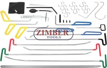 Trusa profesionala indreptat loviturile de grindina fara chituire sau revopsire 33 buc - ZR-36PDRK3301- ZIMBER TOOLS.