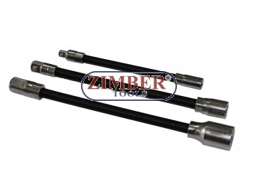 Set prelungitor  flexibil - 3 buc. ZR-02FEBS03 - ZIMBER TOOLS