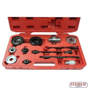 Trusa pentru montare demontare bucsi punte spate, punte   AUDI si  VW 13-buc ,  ZT-04771 - SMANN TOOLS.