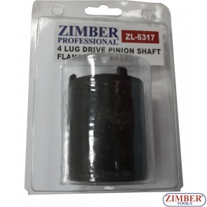 4 LUG DRIVE PINION SHAFT FLANGE NUT SOCKET MERCEDES BENZ W107, W114, W115, W116, W123, W126. ZL-6317 - ZIMBER-TOOLS.