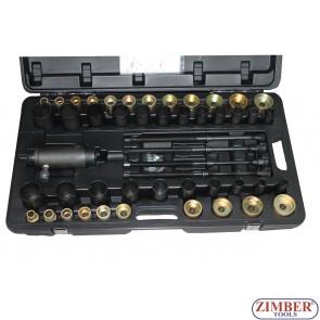 Kit hidraulic pentru montare și demontare a articulațiilor, bucșe, rulmenti, garnituri, etc 49 - piese, ZR-36HSSPUTS - ZIMBER TOOLS.