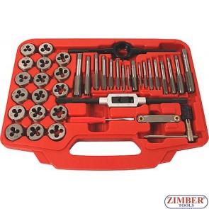 Filiere Manuale + Tarozi Evo  40 buc/set, ZR-36TDS40  - ZIMBER TOOLS