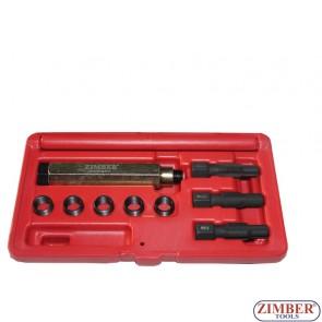 Trusa reparat filet Sonda Lambda 10piese, M12 X 1.5, ZR-36GPTS121510 - ZIMBER TOOLS