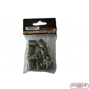 Insertii pentru reparatie filet M12 X 1.75 X 16.3mm - ZT-04J1068 - SMANN TOOLS