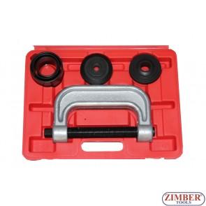 Presa universala pentru extras si montat pivoti, rotule, bucse suspensie, cruci cardanice, rulmenti - ZK-1342
