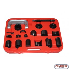 Presa universala pentru extras si montat pivoti , rotule, bucse suspensie, cruci cardanice, rulmenti  21-buc - ZK-1343