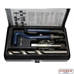 Trusă de reparat filet - M12x1.75, ZR-36TCIPK12 - ZIMBER-TOOLS