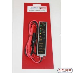 Tester baterie si alternator -   ZIMBER